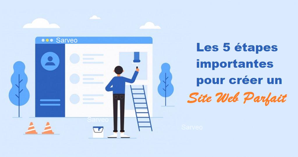 5 étapes pour construire site web